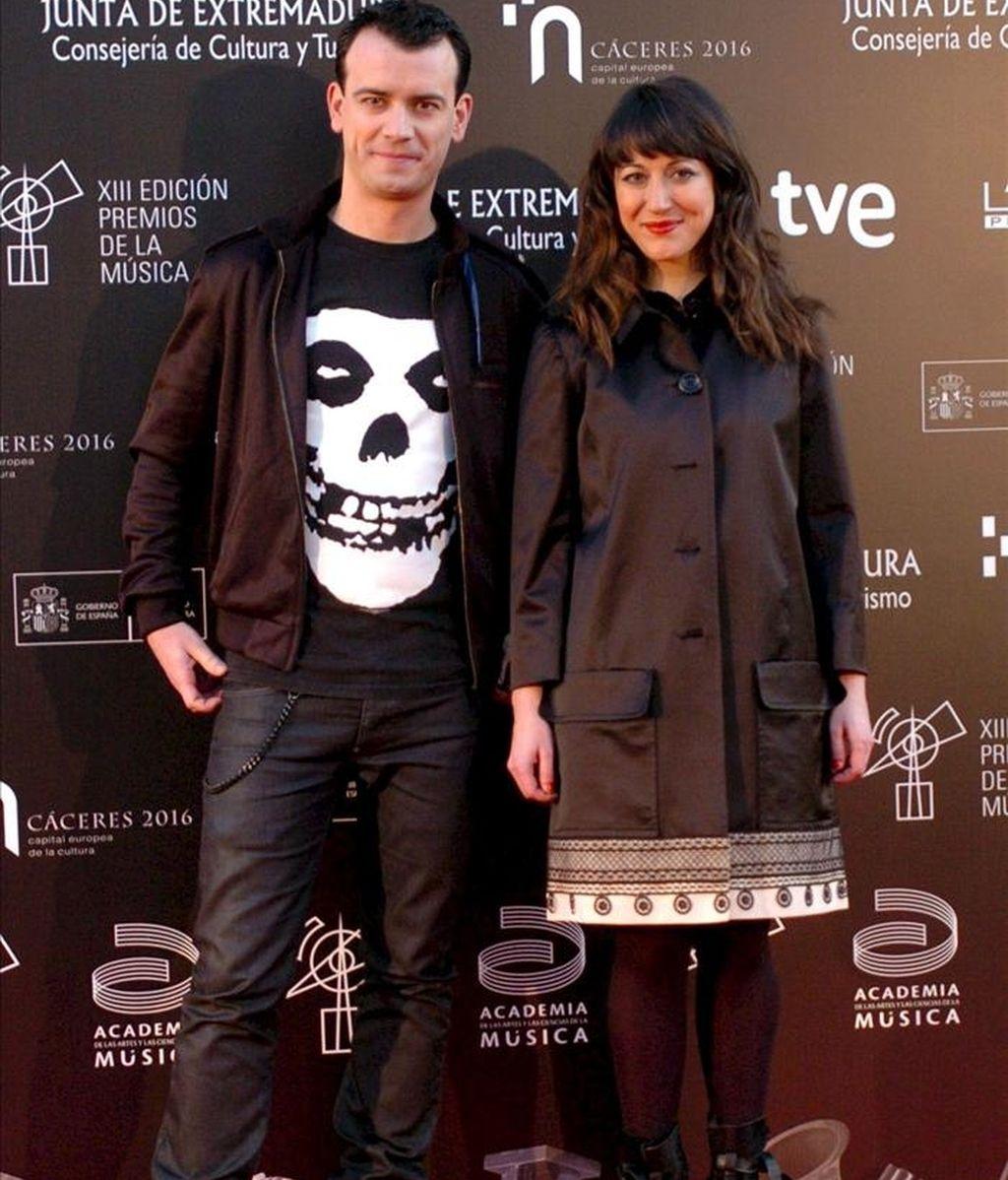 La cantante madrileña Mai Meneses y el músico barcelonés Kim Fanlo, que forman el dúo Nena Daconte. EFE/Archivo