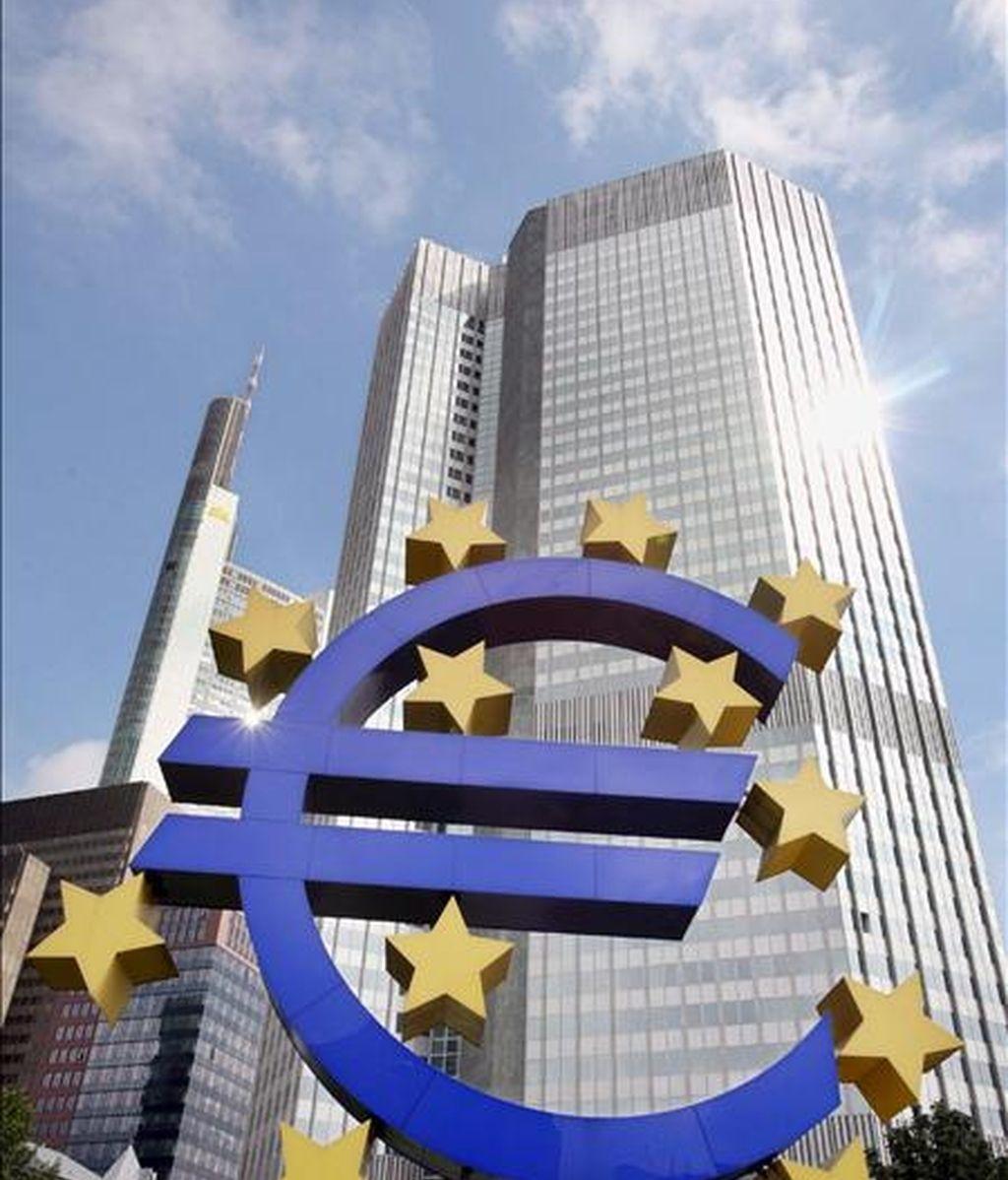 La fachada de la sede del Banco Central Europeo (BCE) en Fráncfort, Alemania. EFE/Archivo