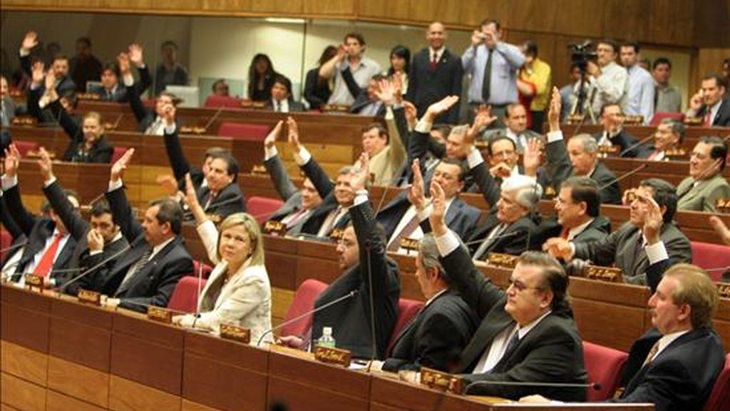 La adhesión de Venezuela al bloque suramericano, aprobada en 2006 por los Gobiernos de los cuatro socios, está en manos del Senado paraguayo. EFE/Archivo