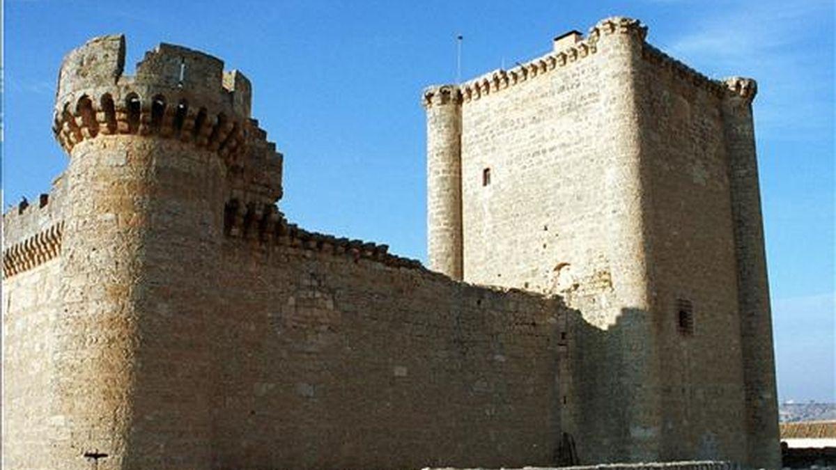 Vista del castillo de Villafuerte de Esgueva (Valladolid). EFE/Archivo
