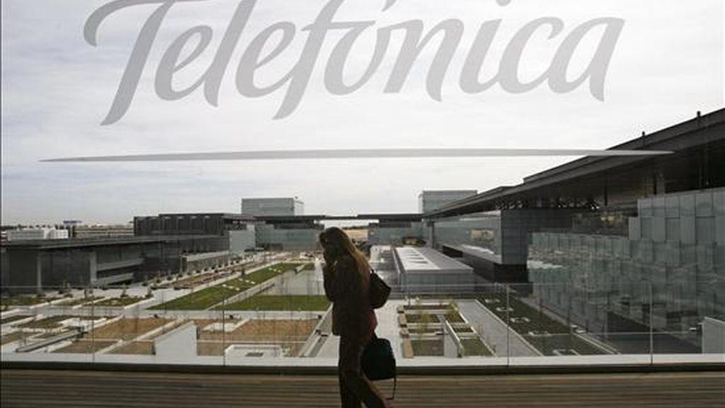 Imagen del edificio de la nueva sede de Telefónica, en el distrito de la Comunicación, en Madrid. EFE/Archivo
