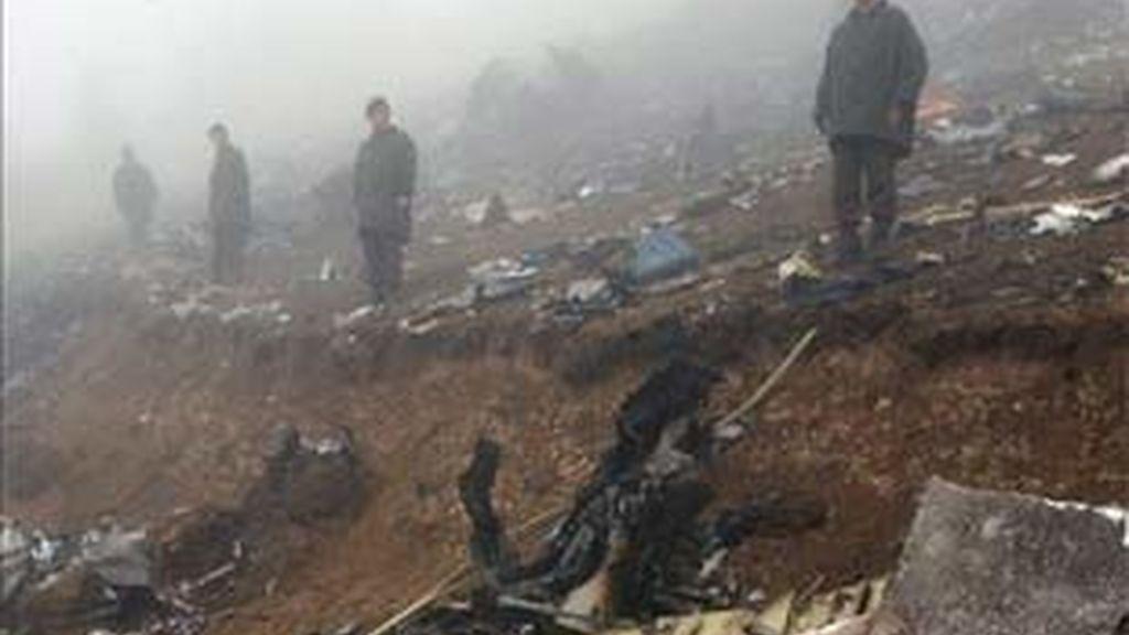 Imagen de archivo del accidente aéreo del Yak-42. Foto: EFE.