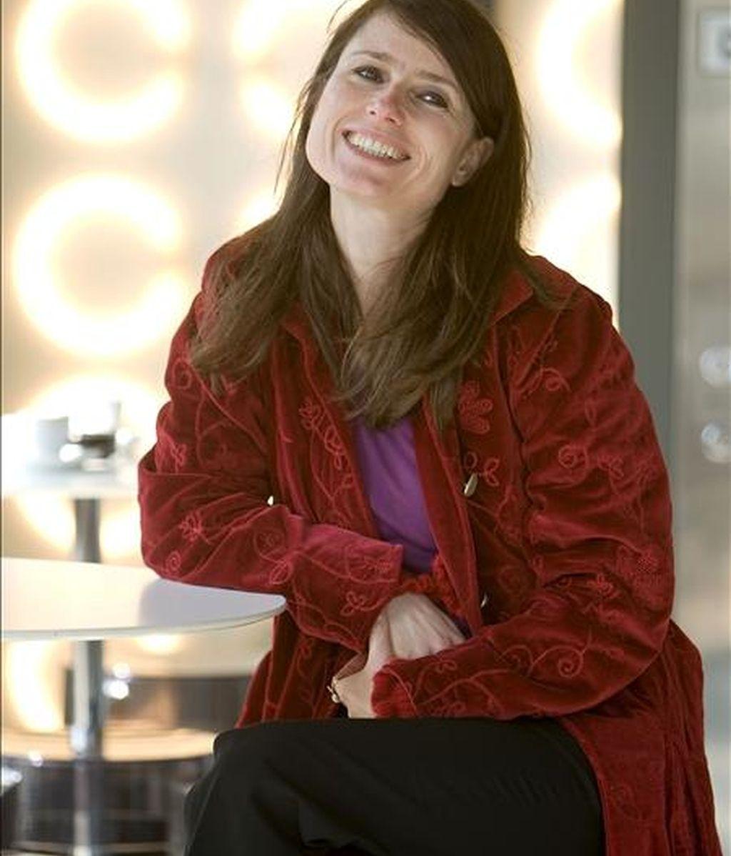 """La directora de """"La caja de Pandora"""", Yesim Ustaoglu, ganadora de la última Concha de Oro del Zinemaldia, posa tras la proyección de su filme en el Festival de Cine y Derechos Humanos que se celebra en San Sebastián. EFE"""