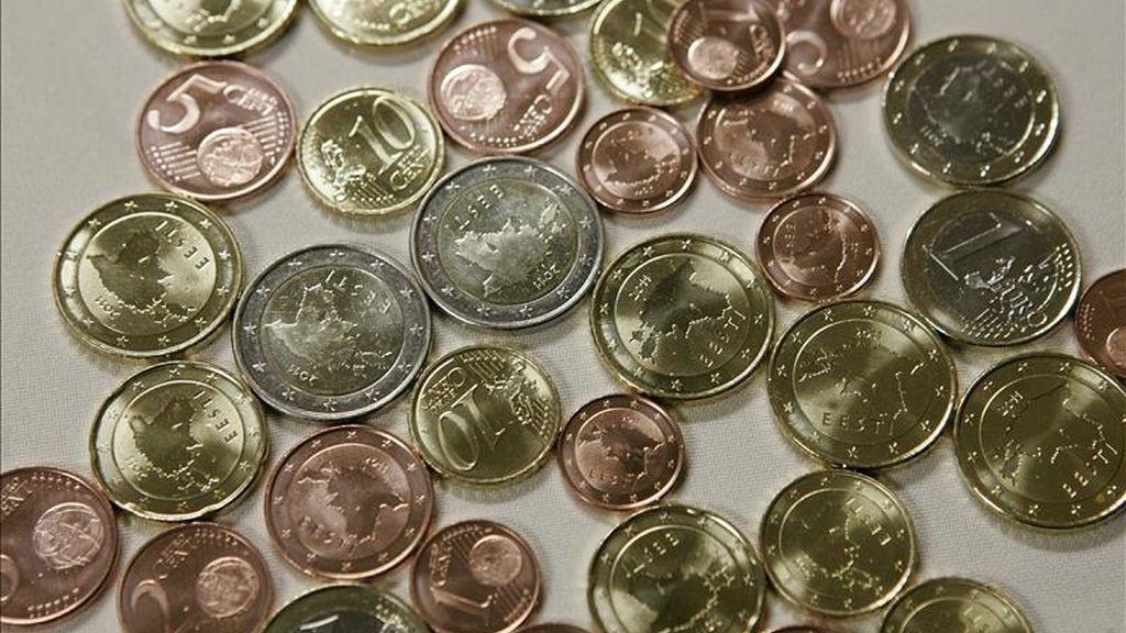 Vista de varias monedas de euro. EFE/Archivo