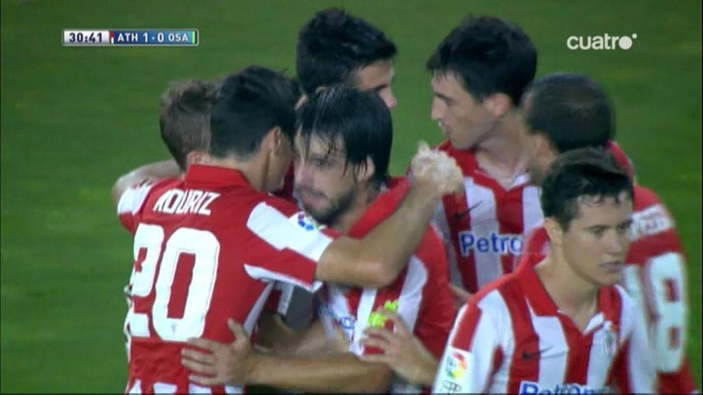 Gol de Arribas (pp) (Athletic 1-0 Osasuna)