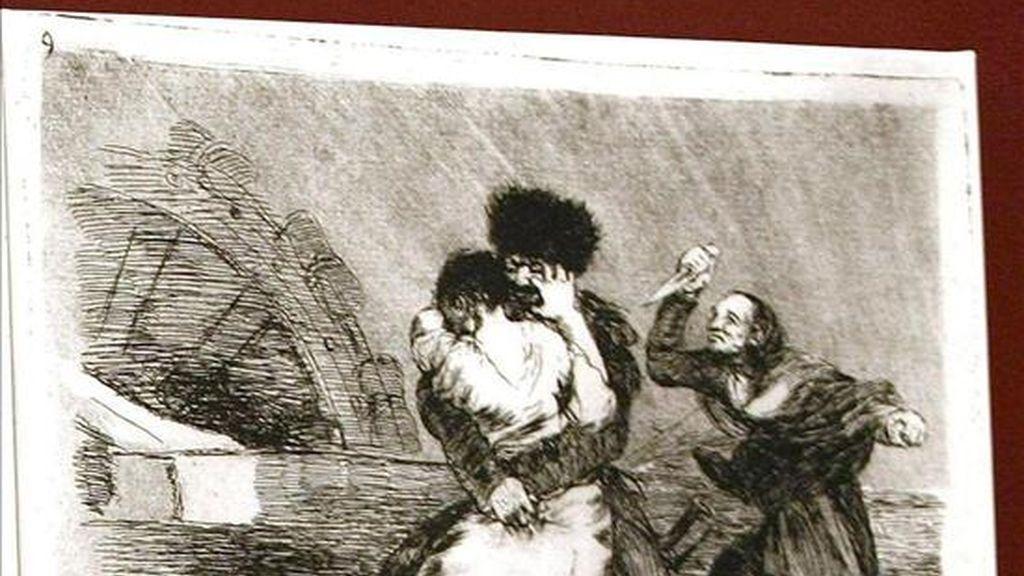 """Grabados de Francisco de Goya de la exposición """"Goya, su visión de la guerra"""", organizada por la Universidad Internacional Menéndez Pelayo en Santander. EFE/Archivo"""