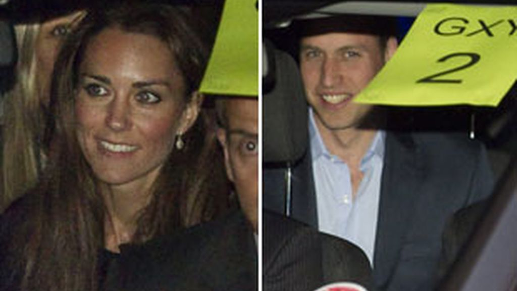 Guillermo y Kate a su llegada a la abadía de Westminster.