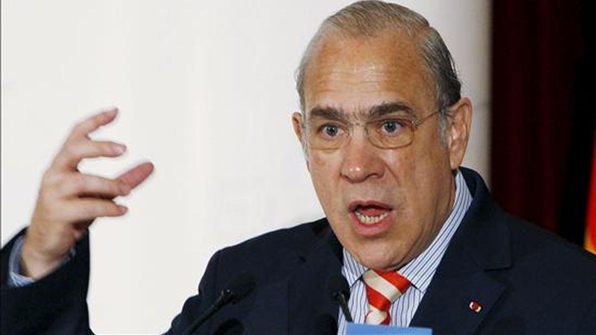 El secretario general de la OCDE, Ángel Gurría. EFE/Archivo
