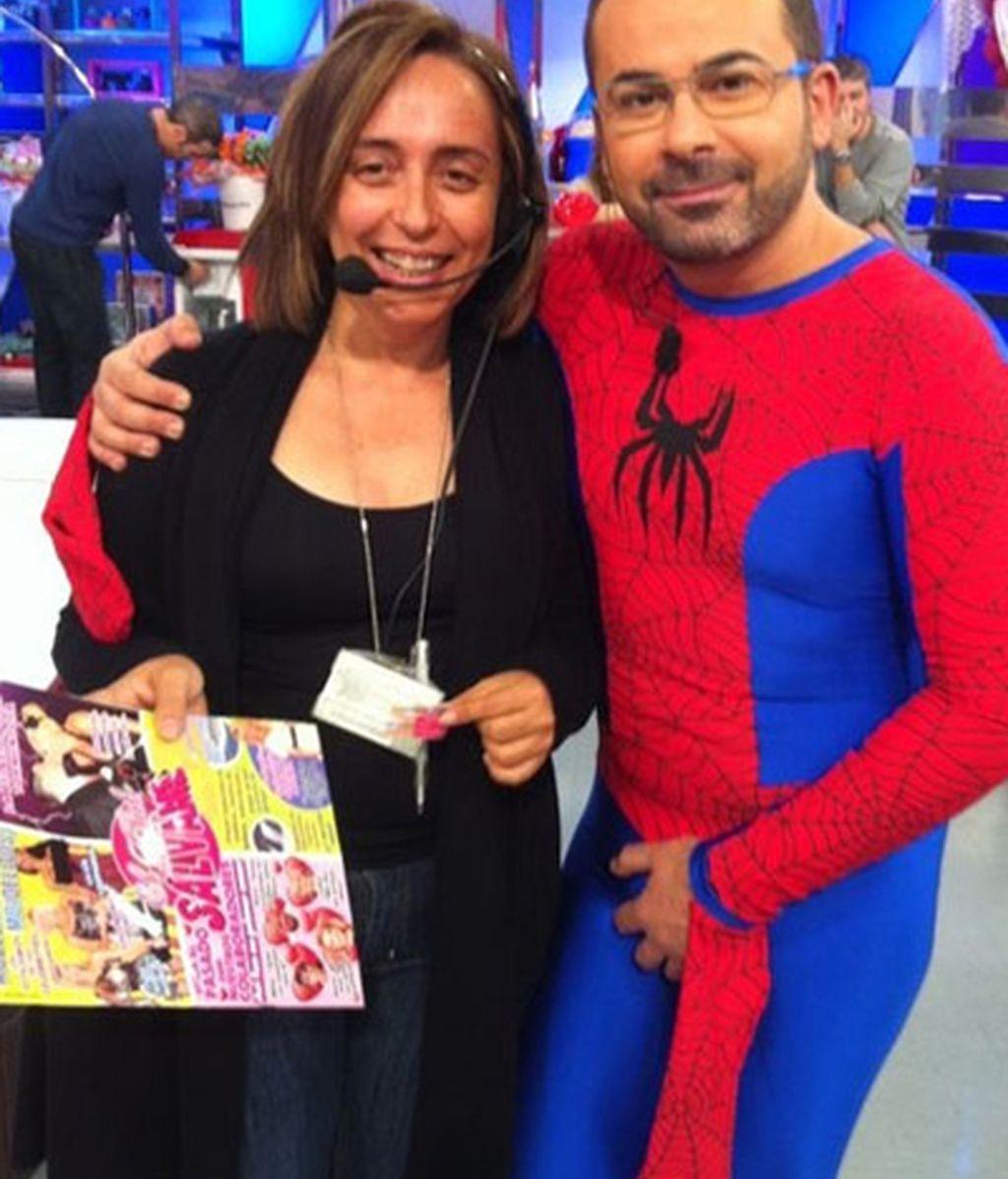 Jorge Javier, con una compañera del programa