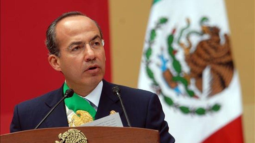 En los últimos dos años, el Gobierno del presidente mexicano, Felipe Calderón, ha desplegado más de 40.000 soldados para combatir a los narcotraficantes. EFE/Archivo