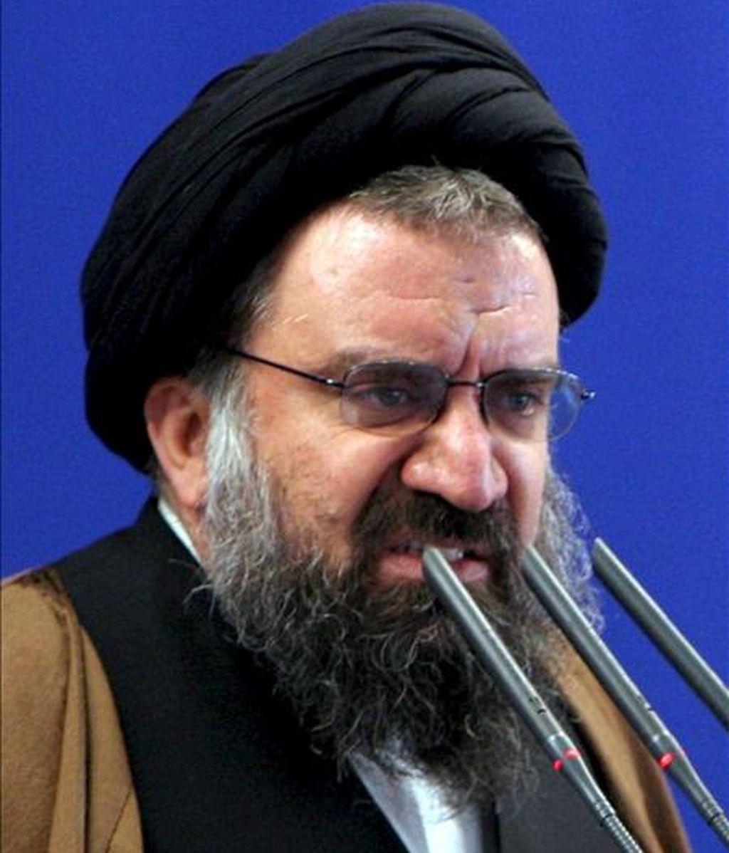 El imán del sermón del viernes de Teherán, el ayatolá Ahmad Jatami. EFE/Archivo