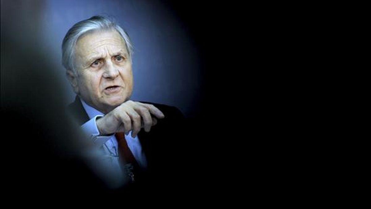 El presidente del Banco Central Europeo (BCE), Jean-Claude Trichet, ayer durante una rueda de prensa en Frankfurt, Alemania. EFE/Archivo