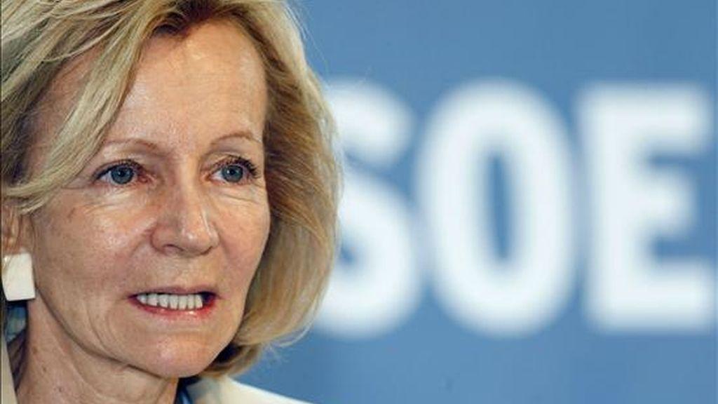 La vicepresidenta económica del Gobierno y ministra de Economía, Elena Salgado. EFE/Archivo