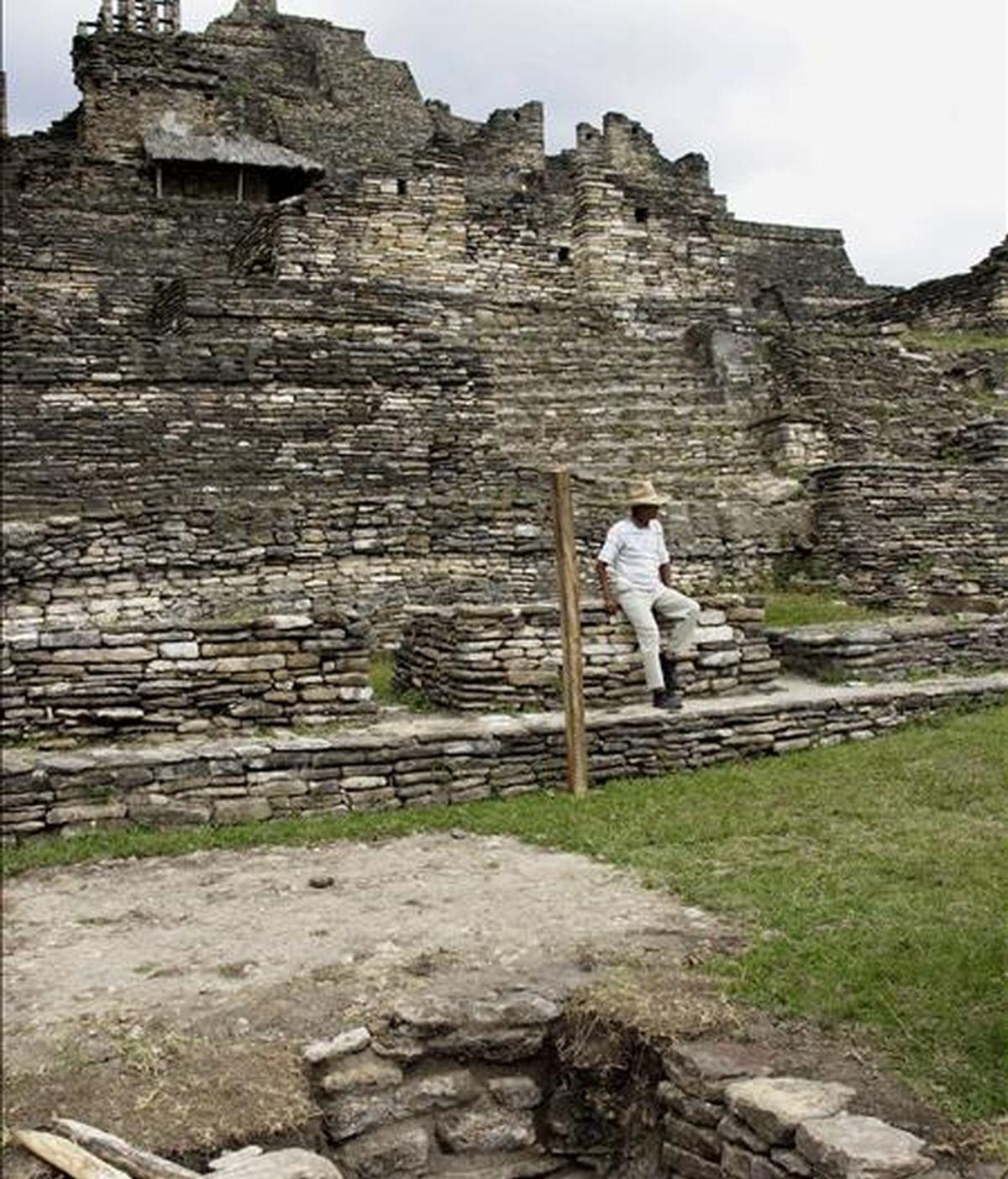 Vista de la zona arqueológica de Toniná, perteneciente a la cultura Maya, en el sureño estado mexicano de Chiapas. EFE/Archivo