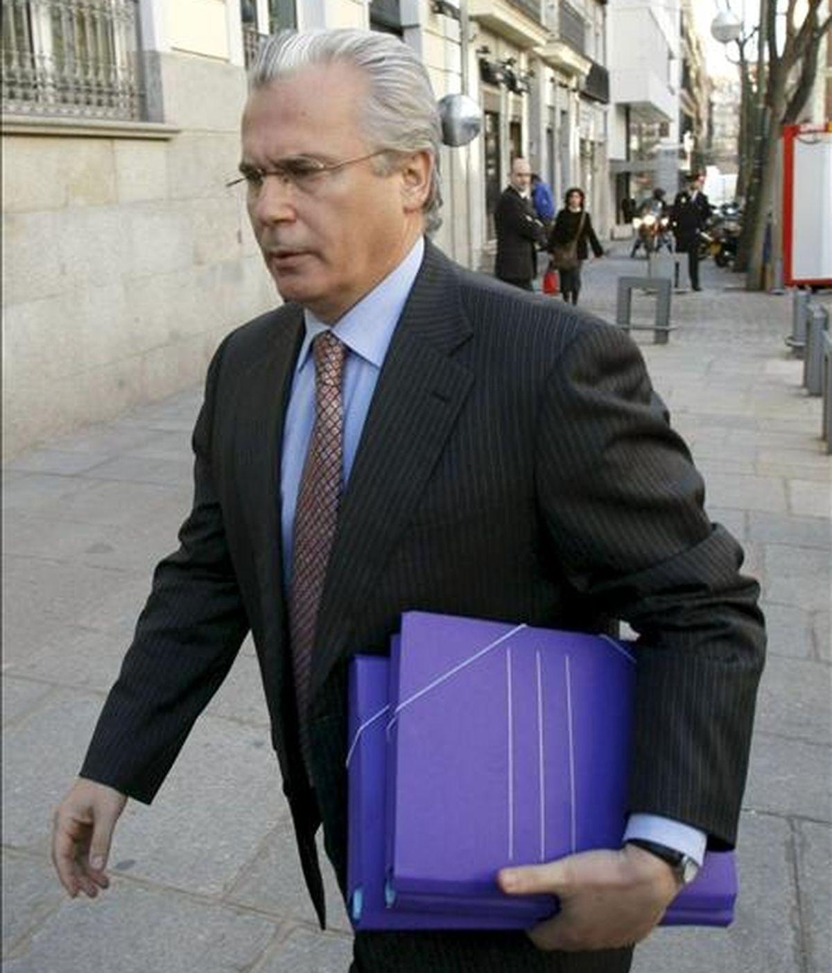 El juez de la Audiencia Nacional Baltasar Garzón, a su llegada a la sede del Consejo General del Poder Judicial el pasado 17 de enero. EFE/Archivo