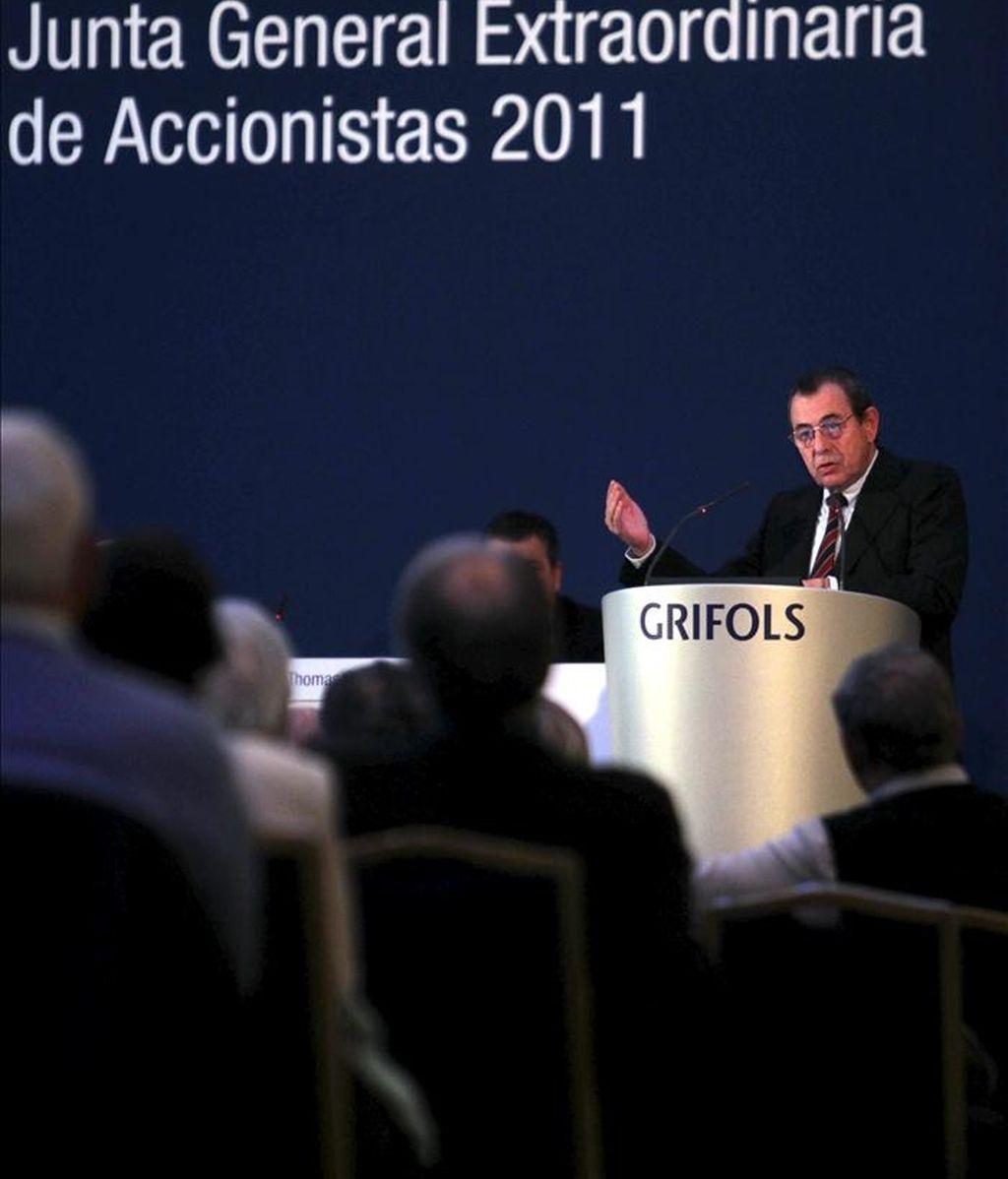 El presidente de Grifols, Víctor Grifols. EFE/Archivo