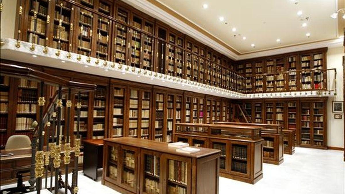 Vista de la biblioteca de la Real Academia de la Lengua Española. EFE/Archivo