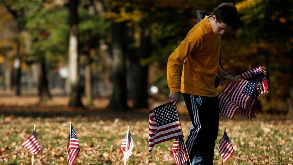 Banderas por los veteranos