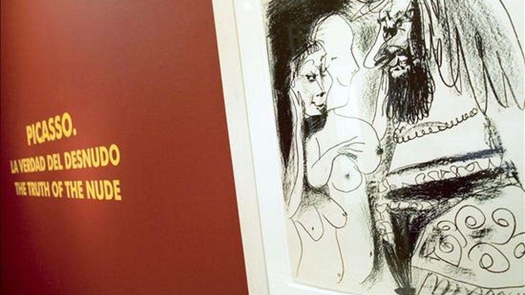 """La Fundación Picasso inaugura en su sede de la Casa Natal la exposición """"Picasso : La verdad del desnudo"""", que ofrece un recorrido por la temática del desnudo a través de la obra gráfica del artista malagueño. EFE"""