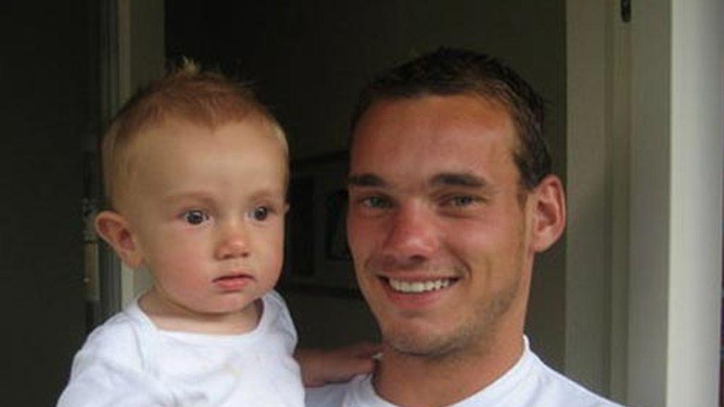 Wesley Sneijder tiene un hijo