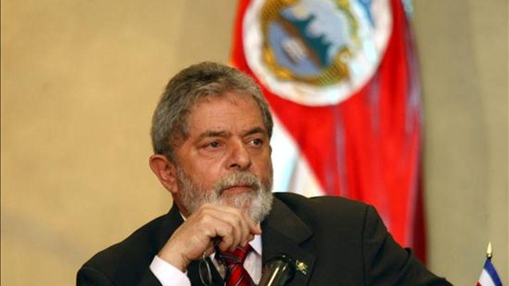El presidente de Brasil, Luiz Inácio Lula da Silva, ha ha insistido en que el PT debe postular a su ministra de la Presidencia, Dilma Rousseff. EFE/Archivo
