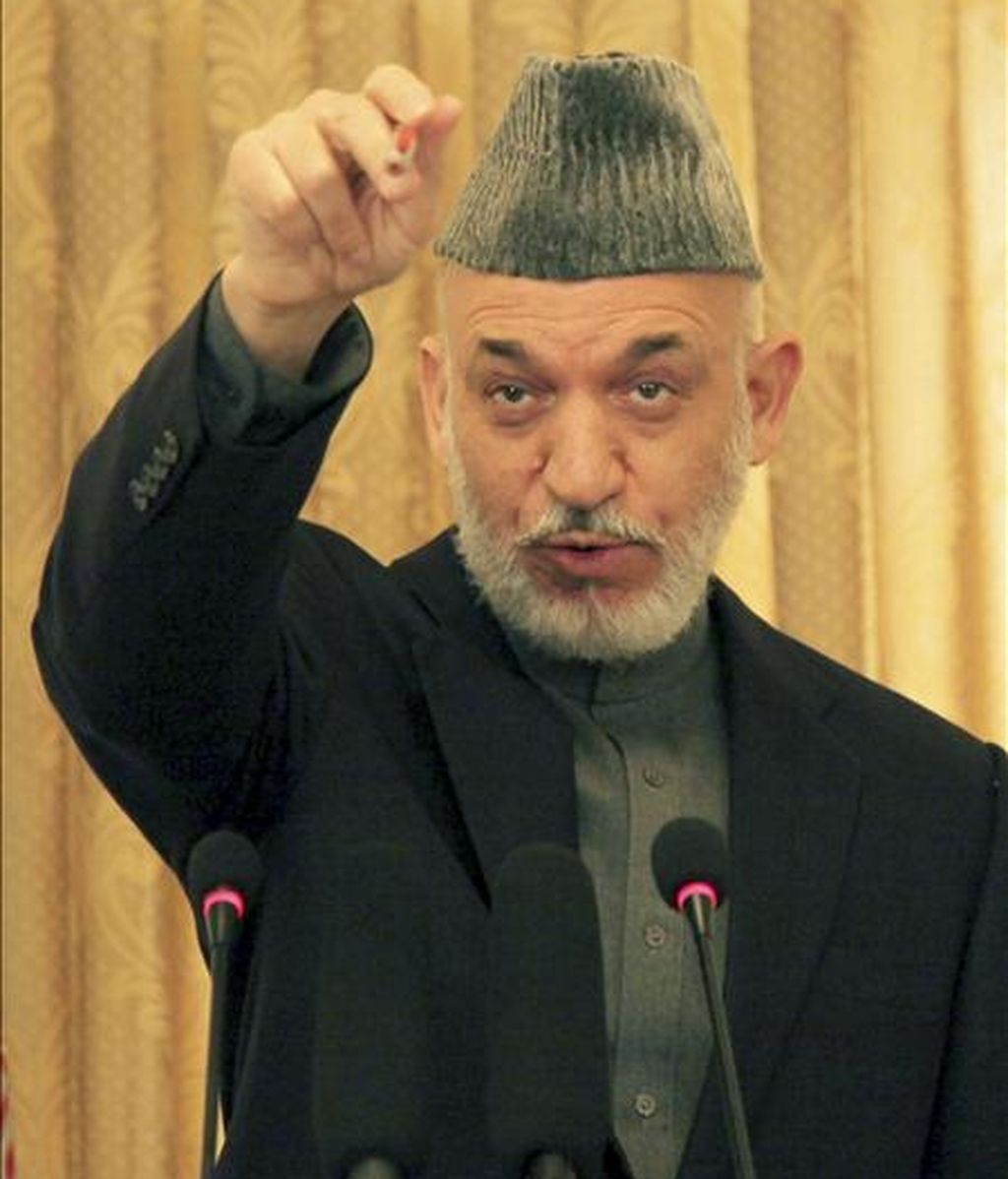 El presidente afgano Hamid Karzai. EFE/Archivo