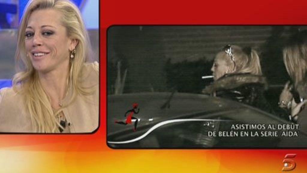 Belén graba su cameo en 'Aída'