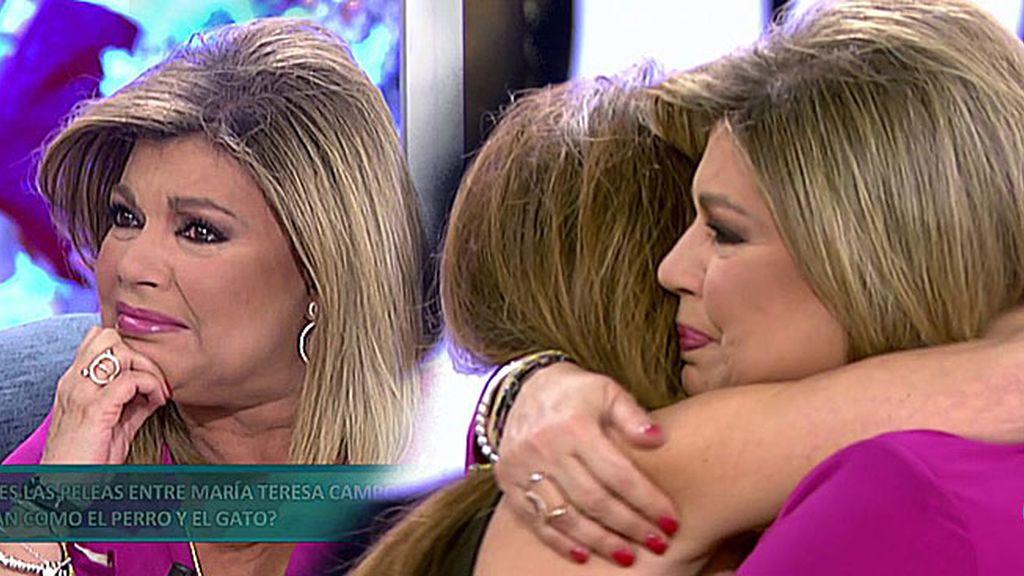 Terelu llora desconsoladamente con las preciosas palabras de María Patiño 😥