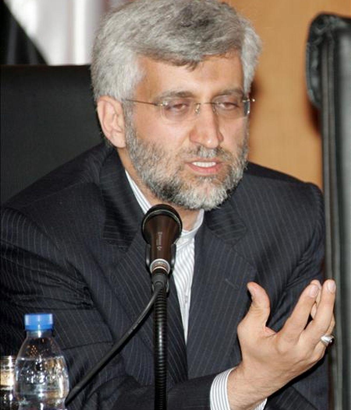 El jefe del Consejo de Seguridad Nacional iraní, Said Jalili, dice que Irán presentó hace dos años un paquete de propuestas para que sirva de base para las negociaciones con el 5+1. EFE/Archivo