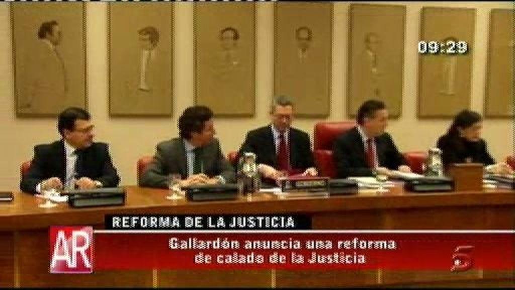 Alberto Ruiz Gallardón anuncia una reforma de calado en la justicia