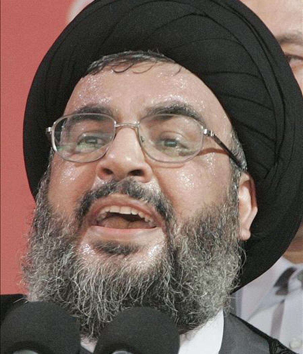 El máximo dirigente de Hizbulá, Hasan Nasralá. EFE/Archivo