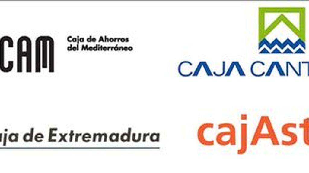En la imagen, combo de los logos de las cuatro entidades. EFE/Archivo