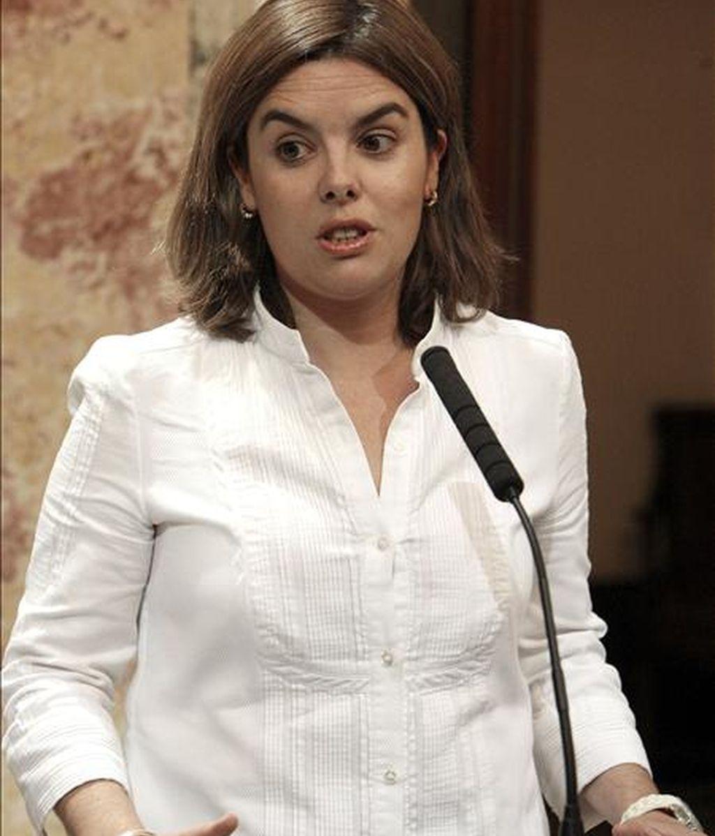 La portavoz del grupo parlamentario popular, Soraya Sáenz de Santamaría. EFE/Archivo