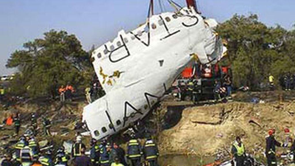 Imagen del accidente de Barajas.