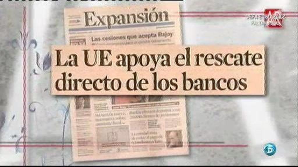 La UE a favor del rescate de bancos que salvaría a España
