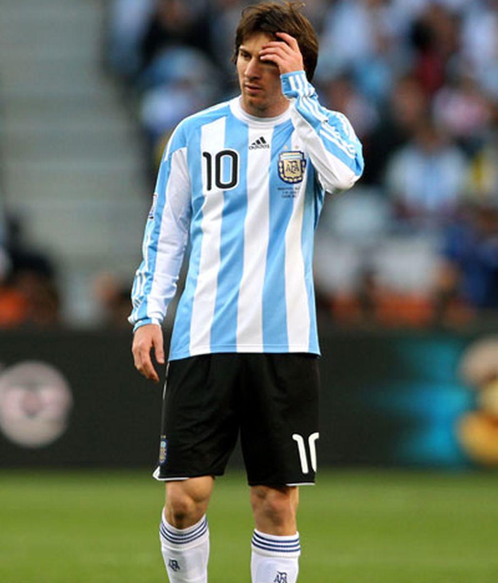Messi se va del Mundial hundido