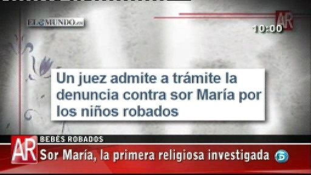 Sor María, la primera religiosa investigada por el robo de bebés