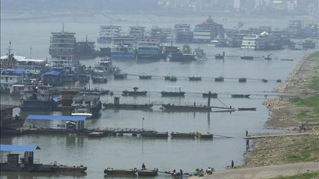 Una vista del río Yangtze en Yichang, en el centro de la provincia de Hubei. EFE/Archivo