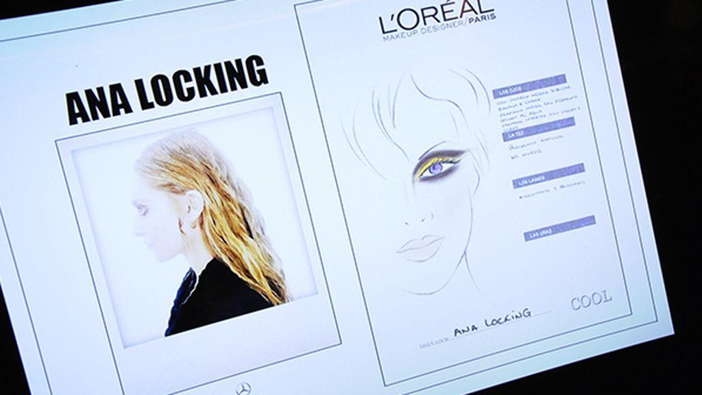 Los tonos dorados predominaban en el maquillaje del desfile de Ana Locking