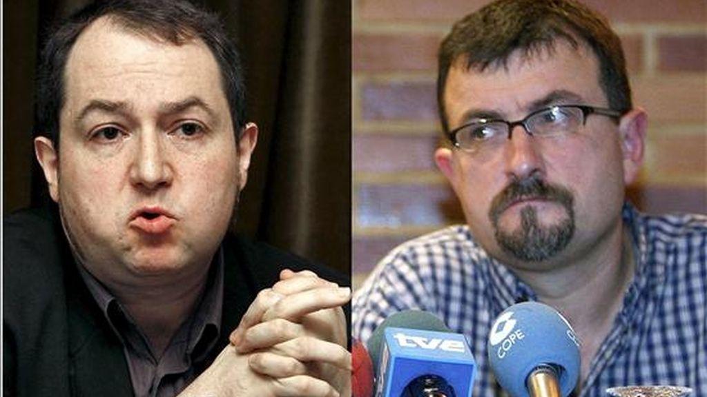 Los ex dirigentes abertzales Pernando Barrena y Juan José Petrikorena. EFE/Archivo