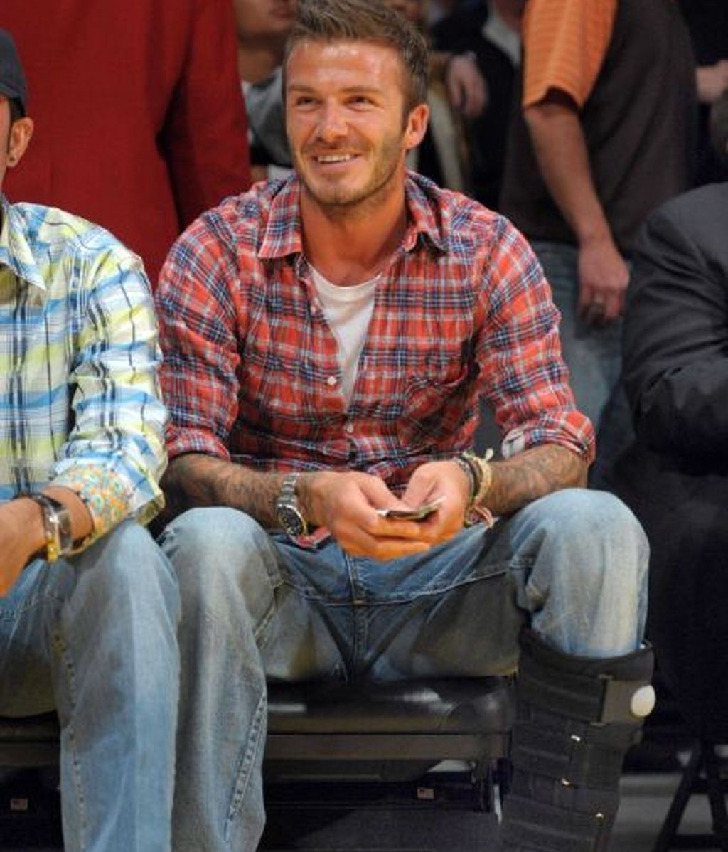 David Beckham y sus agujeros 'fashion'