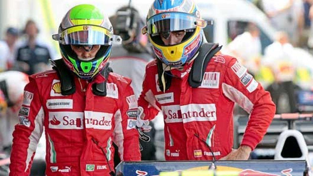Mala carrera para Alonso y Ferrari. El Mundial se les escapa. Foto: Agencias