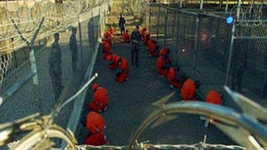 Presos islamistas en Guantánamo. Foto: Archivo.