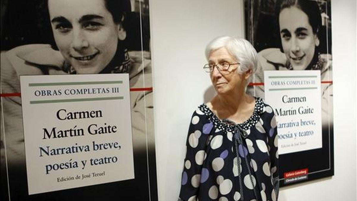 Ana Martín Gaite, hermana de la escritora Carmen Martín Gaite, durante la presentación del volumen tercero de las Obras Completas de ésta, que contiene la narrativa breve de esta gran escritora, la poesía y el teatro. EFE