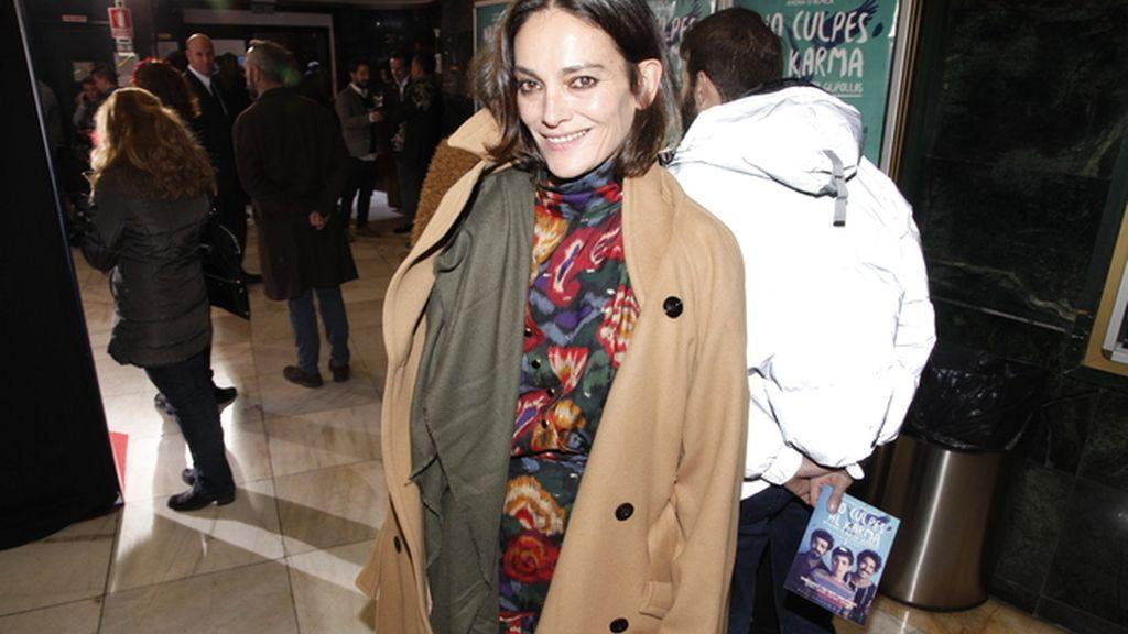 Laura Ponte fue otra de ls invitadas al estreno de la película