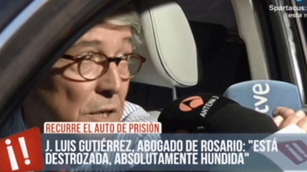 """José L. Gutiérrez, abogado de Rosario Porto: """"Está destrozada, absolutamente hundida"""""""