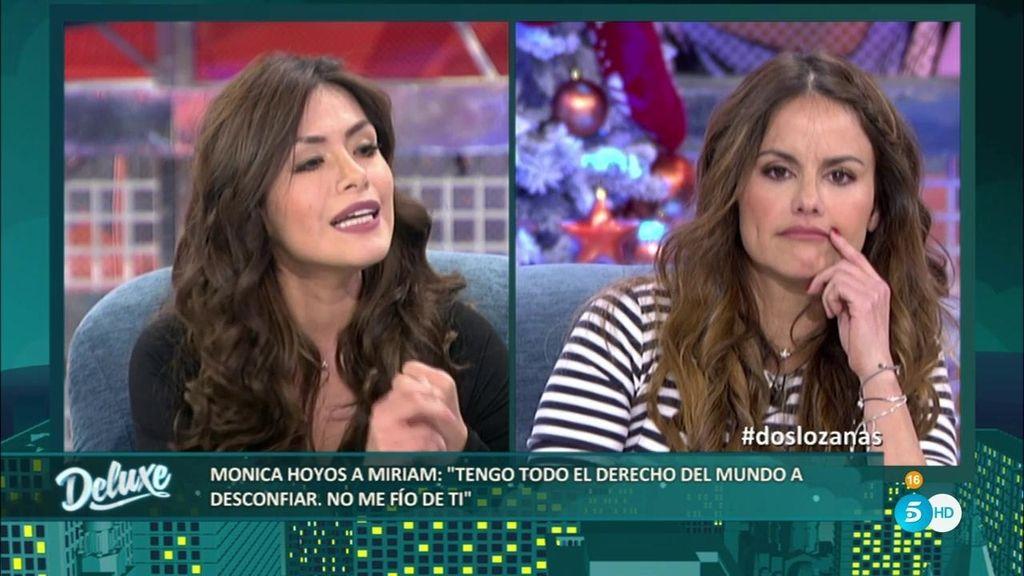 """Miriam, a Mónica: """"Si eres tan profesional, ¿Por qué sigues viviendo de Carlos?"""""""