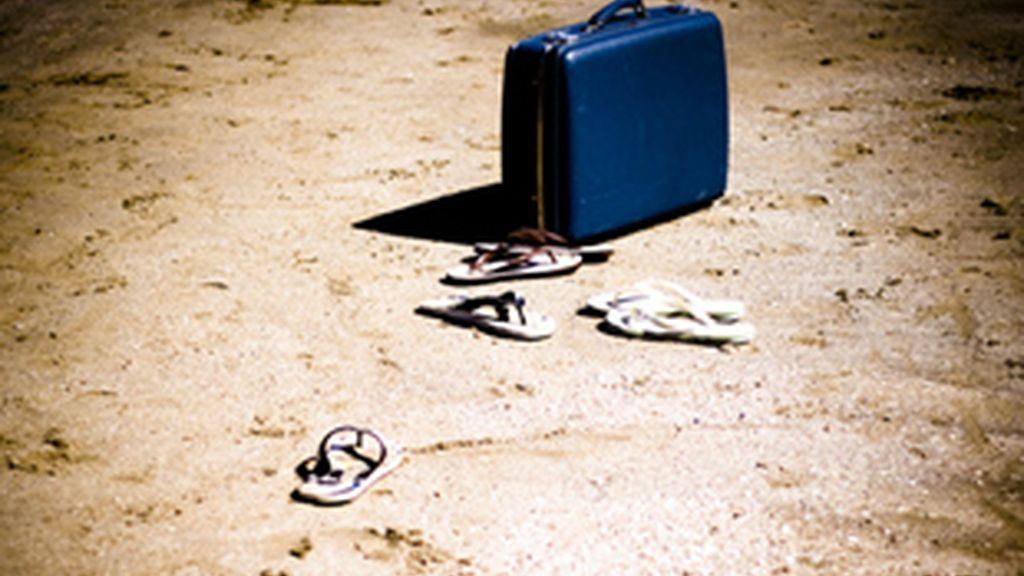 Una de las misteriosas maletas