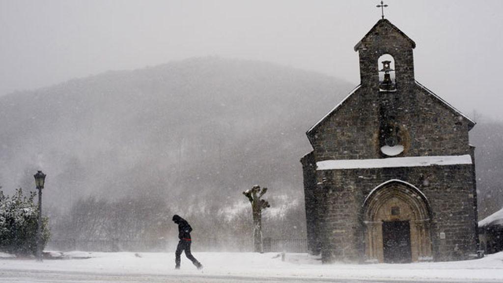 Nieve en Roncesvalles
