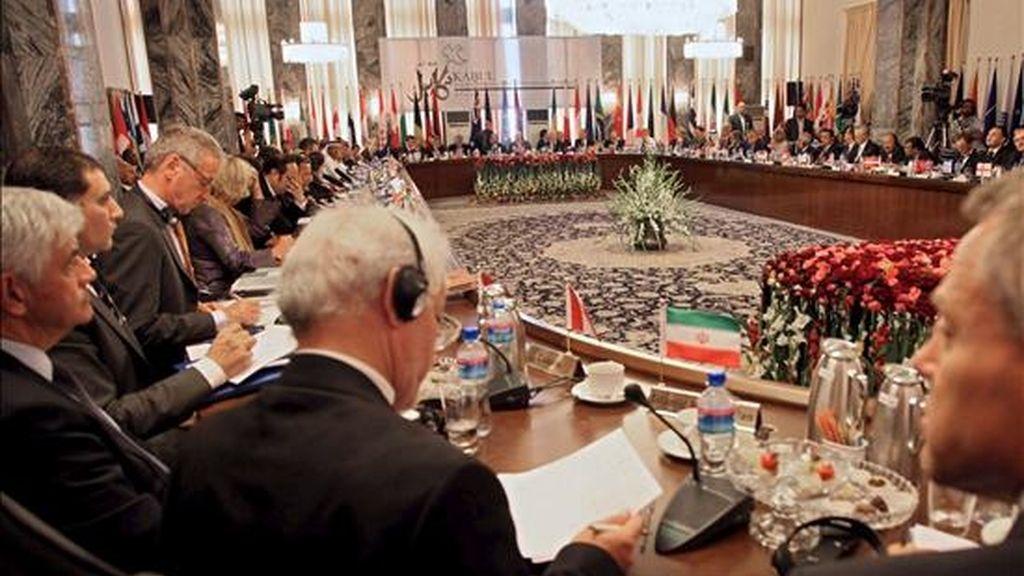 Delegados asistentes a la Conferencia de Kabul este martes. EFE